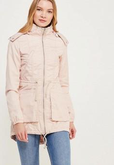 Парка, Only, цвет: розовый. Артикул: ON380EWZKV88. Одежда / Верхняя одежда / Легкие куртки и ветровки