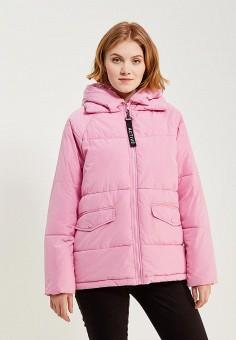Куртка утепленная, Only, цвет: розовый. Артикул: ON380EWZKV90. Одежда / Верхняя одежда