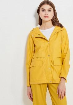Плащ, Only, цвет: желтый. Артикул: ON380EWZKV96. Одежда / Верхняя одежда
