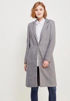 Пальто, Only, цвет: серый. Артикул: ON380EWZKW16. Одежда / Верхняя одежда