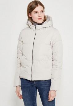 Куртка утепленная, Only, цвет: бежевый. Артикул: ON380EWZKW58. Одежда / Верхняя одежда