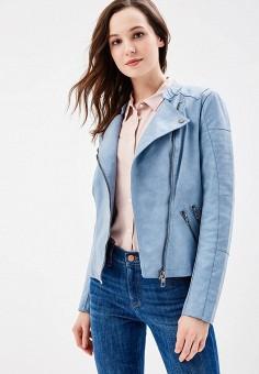 Куртка кожаная, Only, цвет: голубой. Артикул: ON380EWZKW60. Одежда / Верхняя одежда