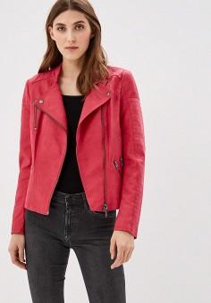 Куртка кожаная, Only, цвет: розовый. Артикул: ON380EWZKW62. Одежда / Верхняя одежда