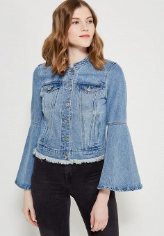 Куртка джинсовая, Only, цвет: голубой. Артикул: ON380EWZKW85. Одежда / Верхняя одежда