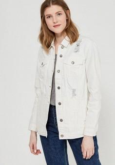 Куртка джинсовая, Only, цвет: белый. Артикул: ON380EWZKW86. Одежда / Верхняя одежда / Джинсовые куртки