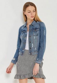 Куртка джинсовая, Only, цвет: голубой. Артикул: ON380EWZKW87. Одежда / Верхняя одежда