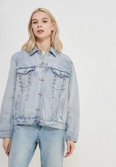 Куртка джинсовая, Only, цвет: голубой. Артикул: ON380EWZKW88. Одежда / Верхняя одежда