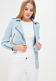 Куртка джинсовая, Only, цвет: голубой. Артикул: ON380EWZKW89. Одежда / Верхняя одежда