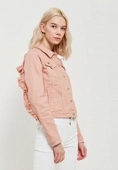 Куртка джинсовая, Only, цвет: розовый. Артикул: ON380EWZKW93. Одежда / Верхняя одежда