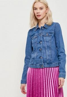 Куртка джинсовая, Only, цвет: синий. Артикул: ON380EWZKX04. Одежда / Верхняя одежда