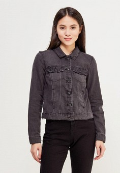 Куртка джинсовая, Only, цвет: серый. Артикул: ON380EWZKX05. Одежда / Верхняя одежда
