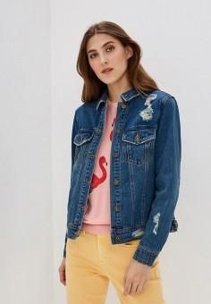 Куртка джинсовая, Only, цвет: синий. Артикул: ON380EWZKX16. Одежда / Верхняя одежда