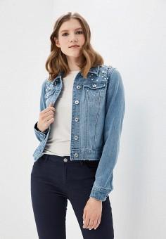 Куртка джинсовая, Only, цвет: голубой. Артикул: ON380EWZKX29. Одежда / Верхняя одежда