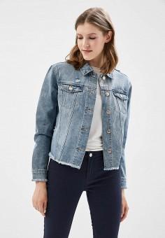 Куртка джинсовая, Only, цвет: голубой. Артикул: ON380EWZKX32. Одежда / Верхняя одежда