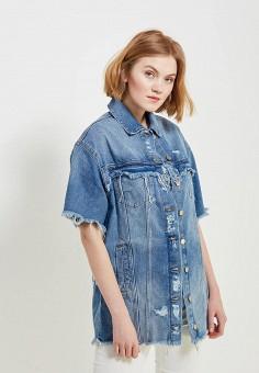 Куртка джинсовая, Only, цвет: голубой. Артикул: ON380EWZKX33. Одежда / Верхняя одежда / Джинсовые куртки