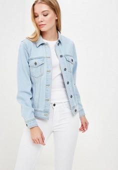 Куртка джинсовая, Only, цвет: голубой. Артикул: ON380EWZKX38. Одежда / Верхняя одежда