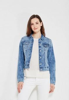 Куртка джинсовая, Only, цвет: синий. Артикул: ON380EWZKX41. Одежда / Верхняя одежда