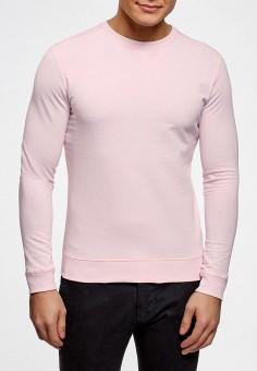 Джемпер, oodji, цвет: розовый. Артикул: OO001EMAUML1. Одежда / Джемперы, свитеры и кардиганы