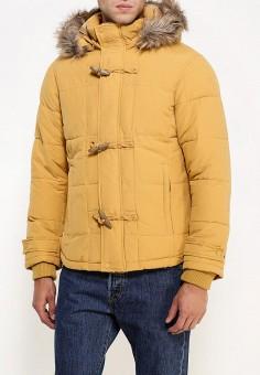 Куртка утепленная, oodji, цвет: желтый. Артикул: OO001EMLXC46. Одежда / Верхняя одежда / Пуховики и зимние куртки