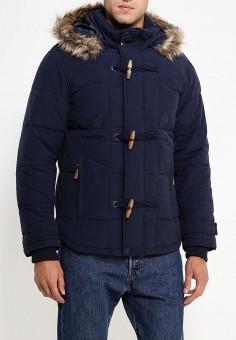 Куртка утепленная, oodji, цвет: синий. Артикул: OO001EMLXC47. Одежда / Верхняя одежда / Пуховики и зимние куртки
