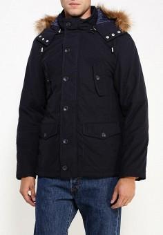 Куртка, oodji, цвет: синий. Артикул: OO001EMLXC58. Одежда / Верхняя одежда / Пуховики и зимние куртки