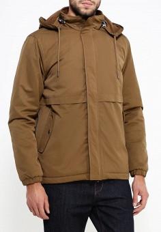 Куртка утепленная, oodji, цвет: коричневый. Артикул: OO001EMMDX33. Одежда / Верхняя одежда / Пуховики и зимние куртки