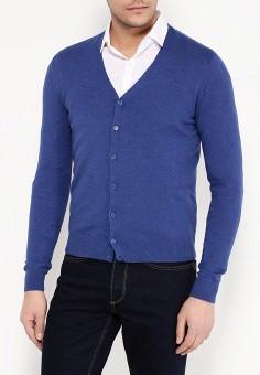 Кардиган, oodji, цвет: синий. Артикул: OO001EMPOY26. Одежда / Джемперы, свитеры и кардиганы