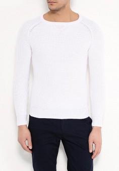 Джемпер, oodji, цвет: белый. Артикул: OO001EMPOY28. Одежда / Джемперы, свитеры и кардиганы