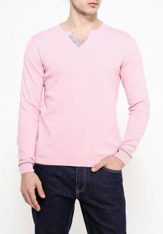 Пуловер, oodji, цвет: розовый. Артикул: OO001EMPVK29. Одежда / Джемперы, свитеры и кардиганы