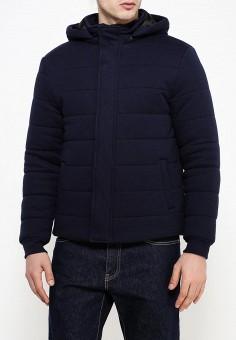 Куртка утепленная, oodji, цвет: синий. Артикул: OO001EMPVK49. Одежда / Верхняя одежда / Пуховики и зимние куртки