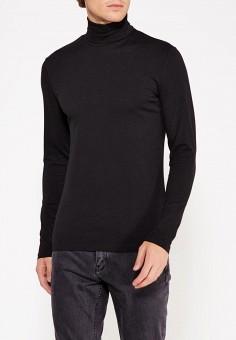 Водолазка, oodji, цвет: черный. Артикул: OO001EMWUZ28. Одежда / Джемперы, свитеры и кардиганы