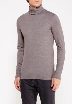 Водолазка, oodji, цвет: серый. Артикул: OO001EMWUZ30. Одежда / Джемперы, свитеры и кардиганы