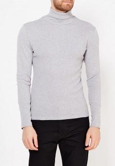 Водолазка, oodji, цвет: серый. Артикул: OO001EMWZU71. Одежда / Джемперы, свитеры и кардиганы