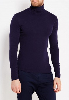 Водолазка, oodji, цвет: синий. Артикул: OO001EMWZU73. Одежда / Джемперы, свитеры и кардиганы