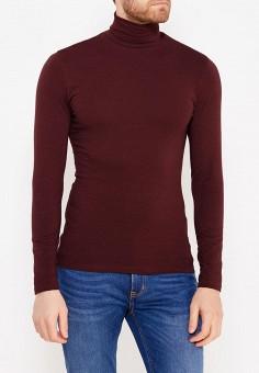 Водолазка, oodji, цвет: бордовый. Артикул: OO001EMWZU76. Одежда / Джемперы, свитеры и кардиганы