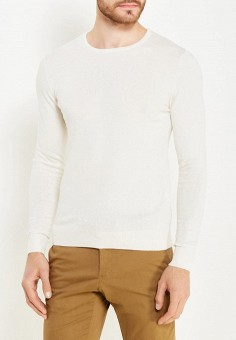 Джемпер, oodji, цвет: белый. Артикул: OO001EMXEC95. Одежда / Джемперы, свитеры и кардиганы