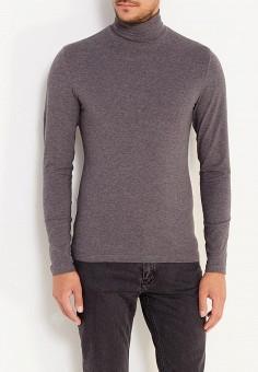 Водолазка, oodji, цвет: серый. Артикул: OO001EMXOW55. Одежда / Джемперы, свитеры и кардиганы