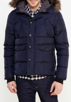 Куртка утепленная, oodji, цвет: синий. Артикул: OO001EMYPY50. Одежда / Верхняя одежда / Пуховики и зимние куртки