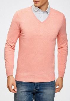 Пуловер, oodji, цвет: розовый. Артикул: OO001EMZQD37. Одежда / Джемперы, свитеры и кардиганы