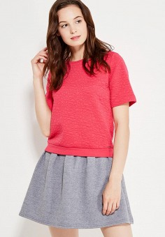 Свитшот, oodji, цвет: розовый. Артикул: OO001EWLCR97. Одежда