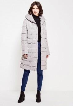 Куртка утепленная, oodji, цвет: серый. Артикул: OO001EWZHC27. Одежда / Верхняя одежда / Зимние куртки