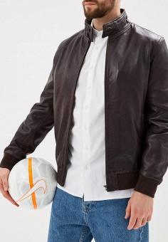 Куртка кожаная, OVS, цвет: коричневый. Артикул: OV001EMAXDY8. Одежда / Верхняя одежда / Кожаные куртки
