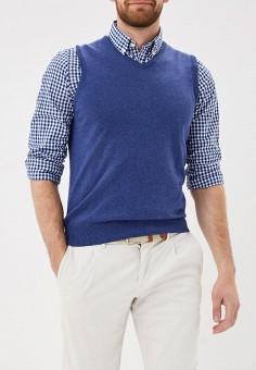 Жилет, OVS, цвет: синий. Артикул: OV001EMAXES4. Одежда / Джемперы, свитеры и кардиганы
