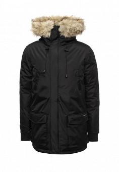 Куртка утепленная, Paragoose, цвет: черный. Артикул: PA068EMNBD61. Мужская одежда / Верхняя одежда / Пуховики и зимние куртки