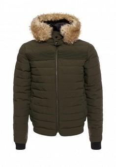 Куртка утепленная, Paragoose, цвет: хаки. Артикул: PA068EMXND70. Мужская одежда / Верхняя одежда / Пуховики и зимние куртки