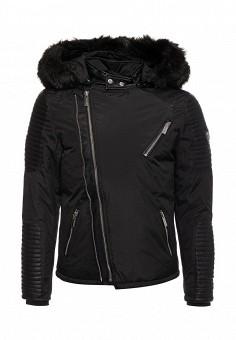 Куртка утепленная, Paragoose, цвет: черный. Артикул: PA068EMZCQ74. Мужская одежда / Верхняя одежда / Пуховики и зимние куртки
