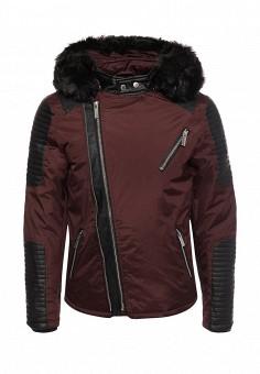 Куртка утепленная, Paragoose, цвет: бордовый. Артикул: PA068EMZCQ75. Мужская одежда / Верхняя одежда / Пуховики и зимние куртки