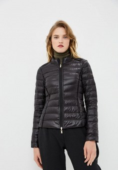 Пуховик, Patrizia Pepe, цвет: черный. Артикул: PA748EWBXSM2. Premium / Одежда / Верхняя одежда / Зимние куртки