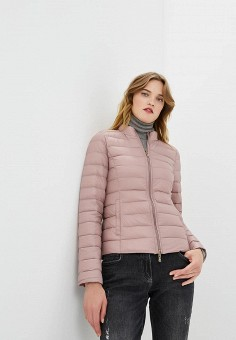 Пуховик, Patrizia Pepe, цвет: розовый. Артикул: PA748EWBXSM3. Premium / Одежда / Верхняя одежда / Зимние куртки