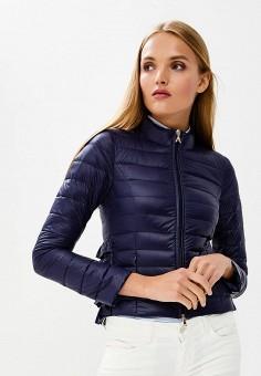 Пуховик, Patrizia Pepe, цвет: синий. Артикул: PA748EWBXSM6. Одежда / Верхняя одежда / Зимние куртки